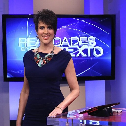 CNN en Español, Realidades en Contexto host, Mercedes Soler Image from: Twitter @mercedescnn